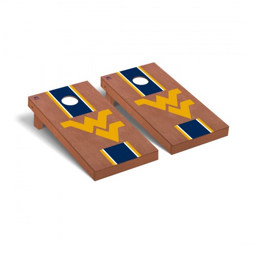 West Virginia Mountaineers Rosewood Stained Cornhole Game Set