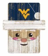 West Virginia Mountaineers Santa Ornament