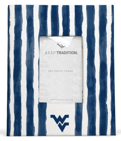 West Virginia Mountaineers School Stripes Picture Frame