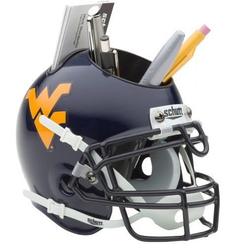 West Virginia Mountaineers Schutt Football Helmet Desk Caddy