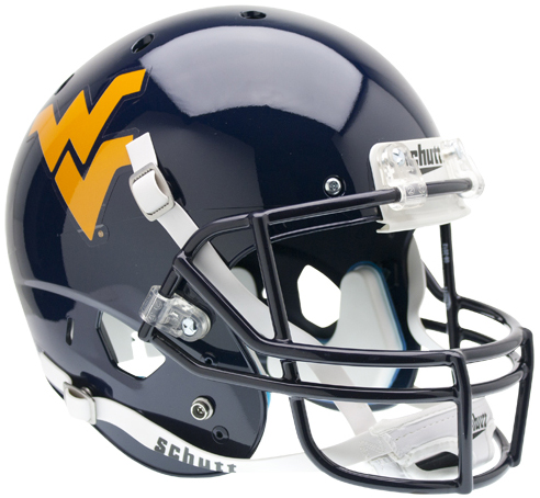 West Virginia Mountaineers Schutt XP Collectible Full Size Football Helmet