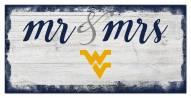 West Virginia Mountaineers Script Mr. & Mrs. Sign