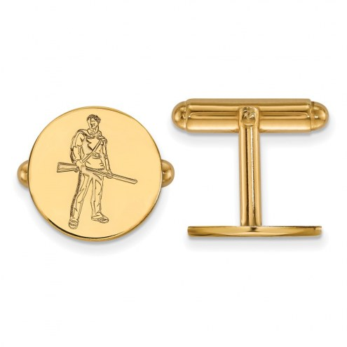 West Virginia Mountaineers Sterling Silver Gold Plated Cuff Links