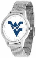 West Virginia Mountaineers Silver Mesh Statement Watch