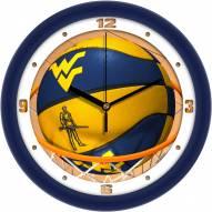 West Virginia Mountaineers Slam Dunk Wall Clock
