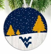 West Virginia Mountaineers Snow Scene Ornament