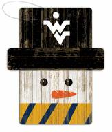 West Virginia Mountaineers Snowman Ornament