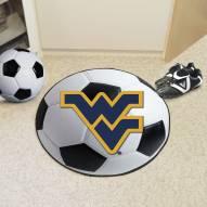 West Virginia Mountaineers Soccer Ball Mat