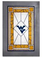 West Virginia Mountaineers Stained Glass with Frame