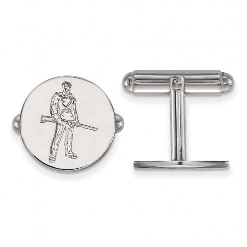 West Virginia Mountaineers Sterling Silver Cuff Links