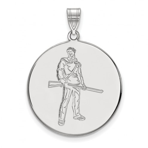 West Virginia Mountaineers Sterling Silver Extra Large Disc Pendant