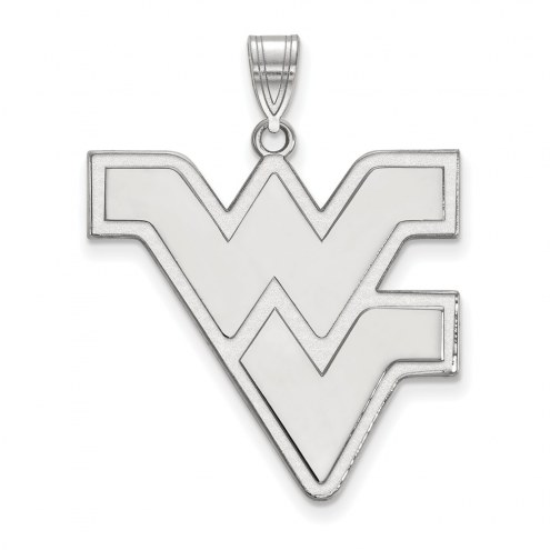 West Virginia Mountaineers Sterling Silver Extra Large Pendant