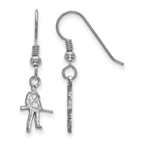 West Virginia Mountaineers Sterling Silver Extra Small Dangle Earrings