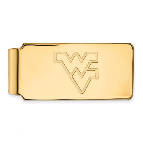 West Virginia Mountaineers Sterling Silver Gold Plated Money Clip