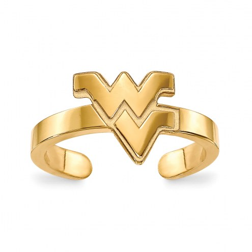West Virginia Mountaineers Sterling Silver Gold Plated Toe Ring