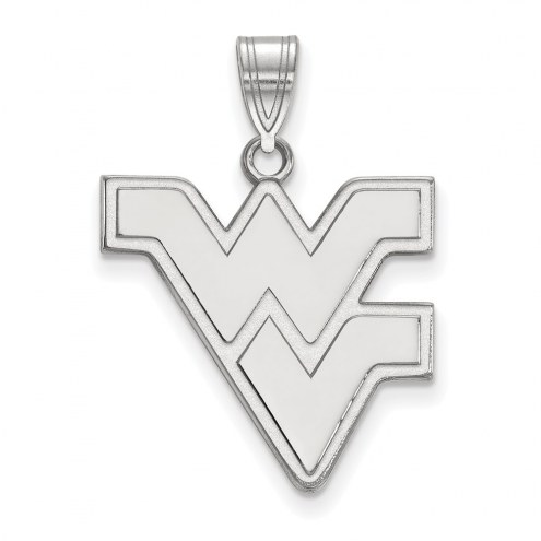 West Virginia Mountaineers Sterling Silver Large Pendant