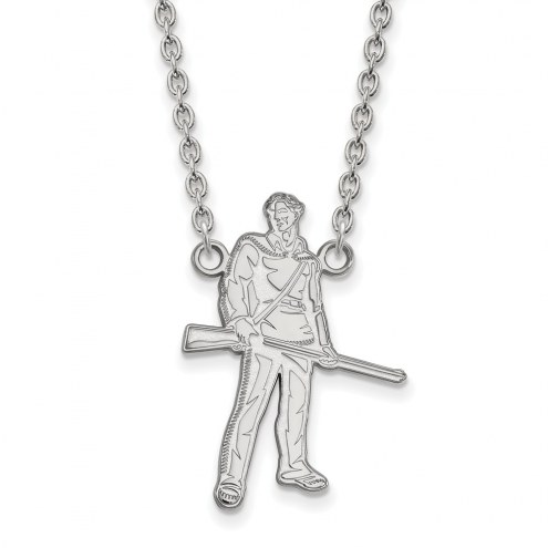 West Virginia Mountaineers Sterling Silver Large Pendant Necklace