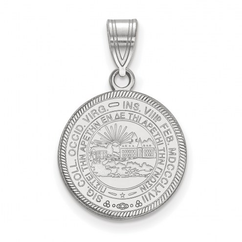 West Virginia Mountaineers Sterling Silver Medium Crest Pendant