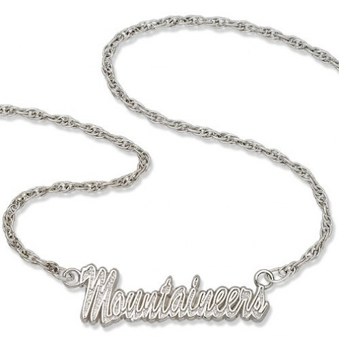 West Virginia Mountaineers Sterling Silver Script Necklace