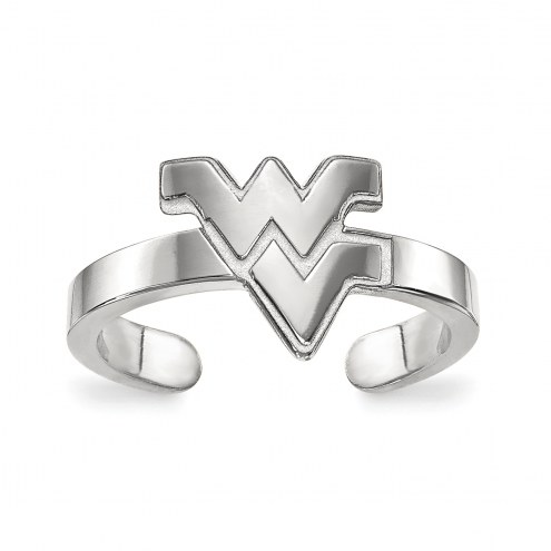 West Virginia Mountaineers Sterling Silver Toe Ring