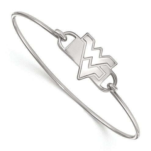 West Virginia Mountaineers Sterling Silver Wire Bangle Bracelet