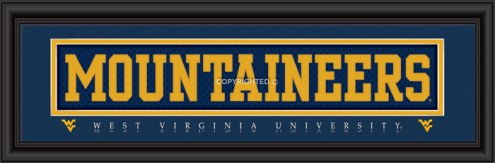 """West Virginia """"Mountaineers"""" Stitched Jersey Framed Print"""