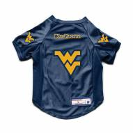 West Virginia Mountaineers Stretch Dog Jersey