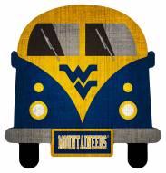 West Virginia Mountaineers Team Bus Sign