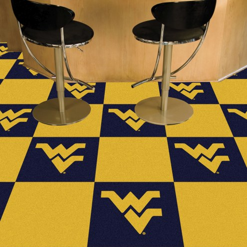 West Virginia Mountaineers Team Carpet Tiles