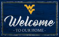 West Virginia Mountaineers Team Color Welcome Sign