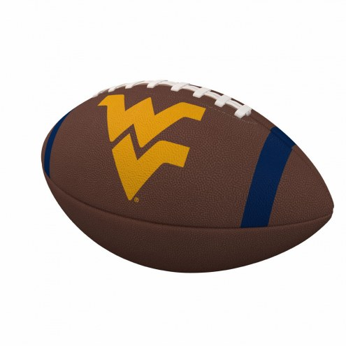 West Virginia Mountaineers Team Stripe Official Size Composite Football