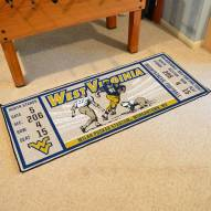West Virginia Mountaineers Ticket Runner Rug