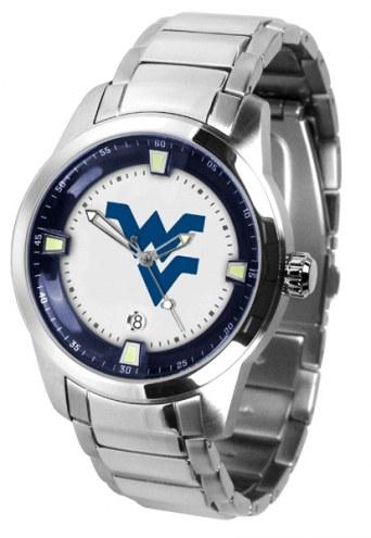 West Virginia Mountaineers Titan Steel Men's Watch