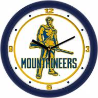 West Virginia Mountaineers Traditional Wall Clock