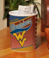 West Virginia Mountaineers Trash Can