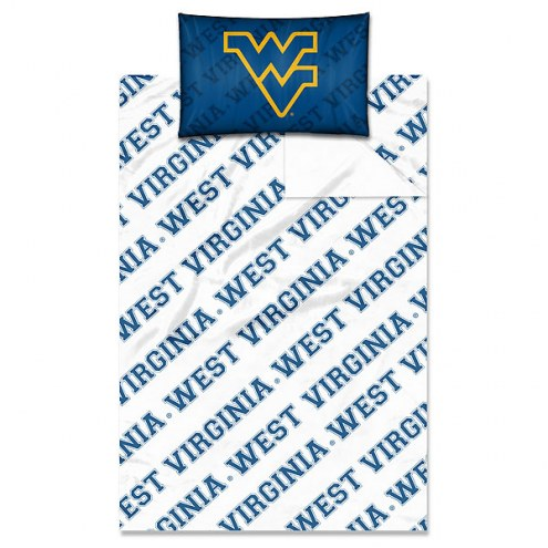 West Virginia Mountaineers Twin Bed Sheets