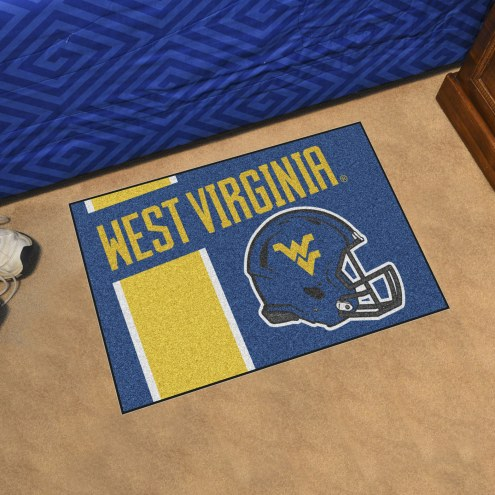 West Virginia Mountaineers Uniform Inspired Starter Rug