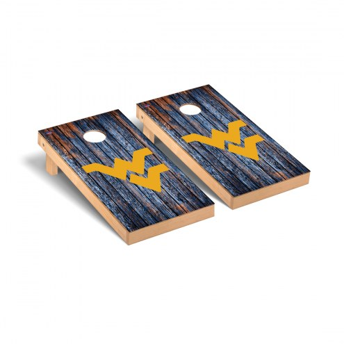 West Virginia Mountaineers Weathered Cornhole Game Set