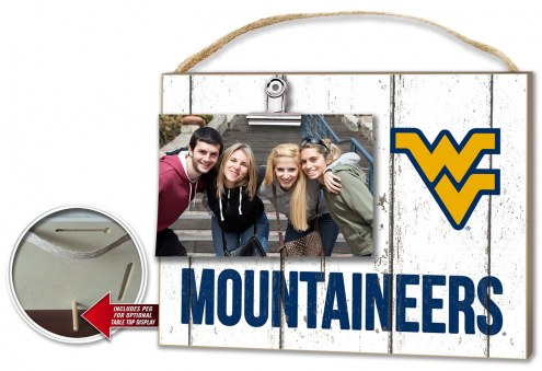 West Virginia Mountaineers Weathered Logo Photo Frame