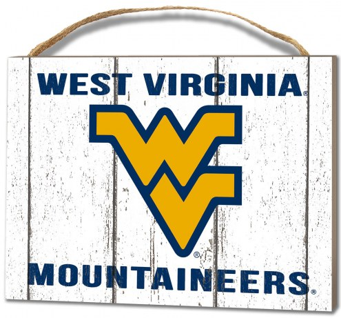 West Virginia Mountaineers Weathered Logo Small Plaque