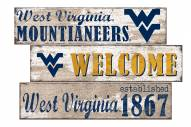 West Virginia Mountaineers Welcome 3 Plank Sign