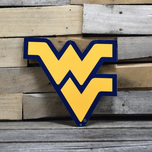"West Virginia Mountaineers Yellow 12"" Steel Logo Sign"