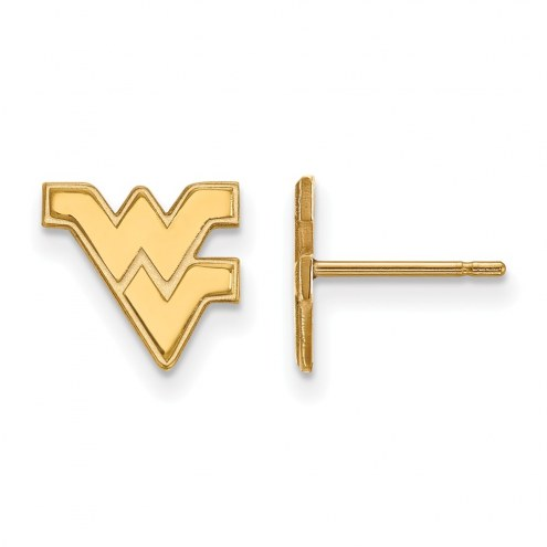 West Virginia Mountaineers NCAA Sterling Silver Gold Plated Extra Small Post Earrings