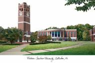 Western Carolina Catamounts Campus Images Lithograph