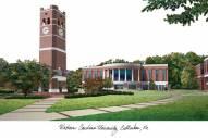 Western Carolina Catamounts Campus Images Lithograph