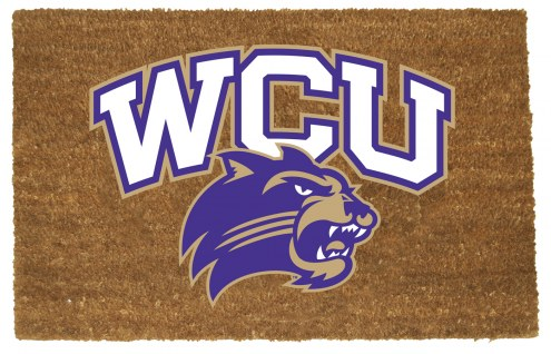 Western Carolina Catamounts Colored Logo Door Mat