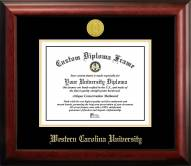 Western Carolina Catamounts Gold Embossed Diploma Frame