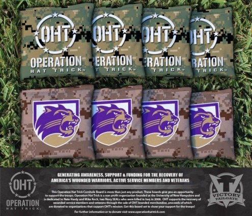 Western Carolina Catamounts Operation Hat Trick Cornhole Bag Set