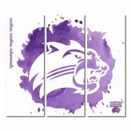 Western Carolina Catamounts Triptych Watercolor Canvas Wall Art