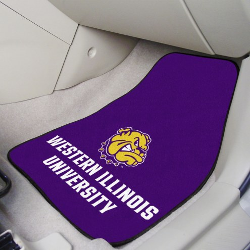 Western Illinois Leathernecks 2-Piece Carpet Car Mats